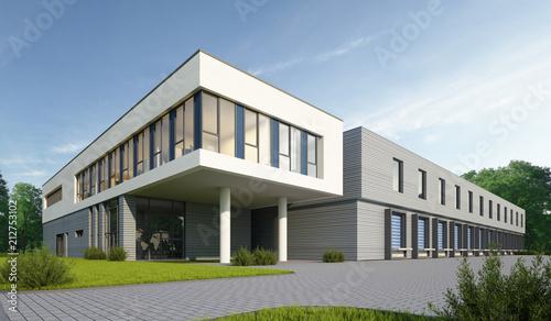 Leinwanddruck Bild Logistikgebäude 1