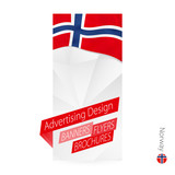 Vector abstract banner template for Norway. - 212755794