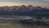 Panorama of the Tatra Mountains in the morning