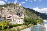 The medieval city of Entrevaux, France - 212756588