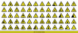 Collection of warning signs. Set of safety signs. Caution signs. Signs of danger and alerts. - 212757915