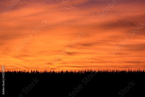 Aluminium Oranje eclat Orange cloudy sunset