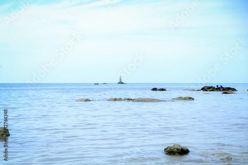 Fotobehang Lichtblauw sea at Thailand