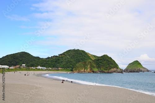 Fotobehang Tropical strand Beautiful beach in Su'ao Township, Yilan, Taiwan