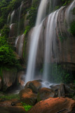 Tad-Wiman-Thip waterfall, Beautiful waterwall in Bung-Kan province, ThaiLand. - 212769906