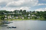 Lake trip in Rurberg, Simmerath, North Rhine Westphalia, in the Eifel National Park in Germany