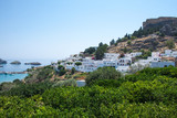 view of lindos city from acropolis on rhodes island - 212783155