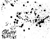Handdrawn grunge texture. Abstract ink drops background. Black and white grunge illustration. Vector watercolor artwork pattern. - 212786109