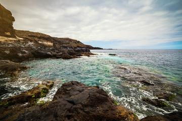 Tenerife, Canary islands, Spain - view of the beautiful Atlantic ocean coast with rocks and stones © bondvit