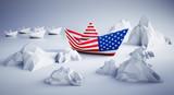 Papierschiff - USA auf unsicherem Kurs - 212791300