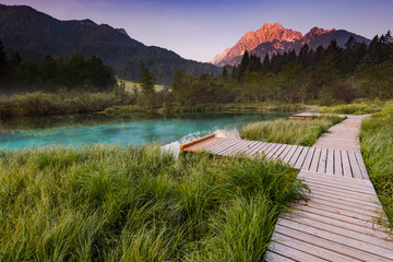 Sunrise in Zelenci Park, Slovenia © marcin jucha