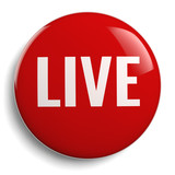 Live Red Round Symbol Isolated - 212799330