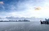 Beautiful view from Hoboken, Manhattan skyline