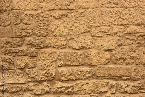 Fototapeta Stone wall. Brick texture. Old facade.