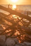 fire burns near the sea - 212804789