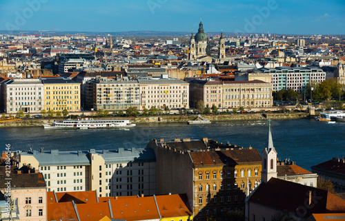 Fotobehang Boedapest Old town Budapest with historical buildings and Danube