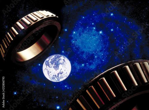 Ziemia we wszechświecie, łożyska wszechświata, kosmiczny napęd