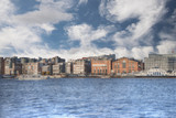 The port in the city of Oslo. - 212815101