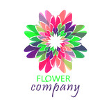 Colorful flower logo, symbol, vector illustration. - 212816560