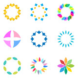Colorful flower logo, symbol, vector illustration. - 212816598