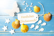 Leinwandbild Motiv Sunny Summer Greeting Card With Glueckwunsch Means Congratulations