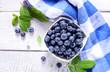 Freshly picked blueberries - 212819336