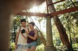 Tourist couple enjoying their holiday - 212819330