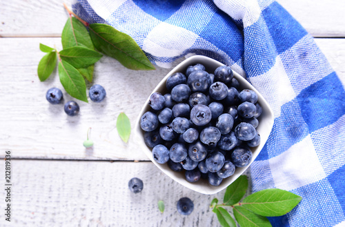 Freshly picked blueberries - 212819336