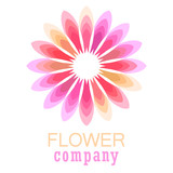 Colorful flower logo, symbol, vector illustration. - 212820111