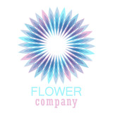 Colorful flower logo, symbol, vector illustration. - 212820141