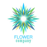Colorful flower logo, symbol, vector illustration. - 212820197