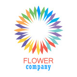 Colorful flower logo, symbol, vector illustration. - 212821165