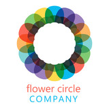 Colorful flower logo, symbol, vector illustration. - 212822169
