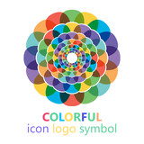 Colorful flower logo, symbol, vector illustration. - 212822197
