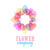 Colorful flower logo, symbol, vector illustration. - 212828517
