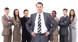 businessman on the background of business team - 212831144