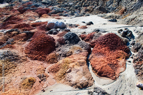 Fotobehang Zalm Martian landscape of Russia