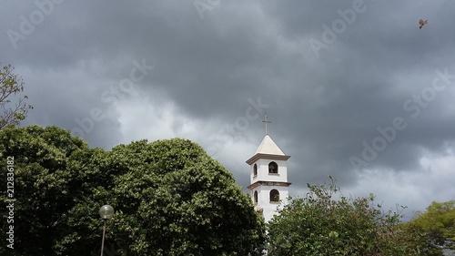 Tower of the Nossa Senhora da Piedade Church in Itabira, Minas Gerais