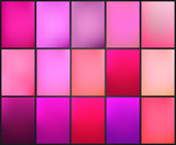 Soft and smooth lines minimalist concept pink and purple color tone backgrounds set. - 212857521
