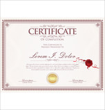 certificate or diploma retro vintage template - 212861174