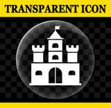 castle vector circle transparent icon - 212863302