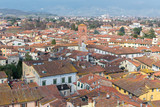 Medieval town of Lucca view from Guinigi tower, Tuscany, Italy - 212865159