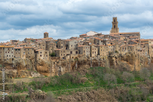 Panoramic view of Pitigliano, Tuscany, Italy - 212868173