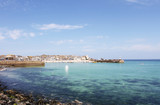 Sunny day at St Ives harbour Cornwall England UK - 212869957