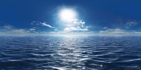 Meer, Sonne und wenig Wolken 360° Panorama © apfelweile