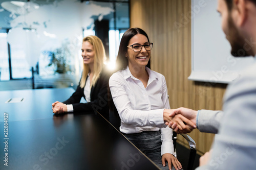 Portrait of business couple in conference room © nd3000