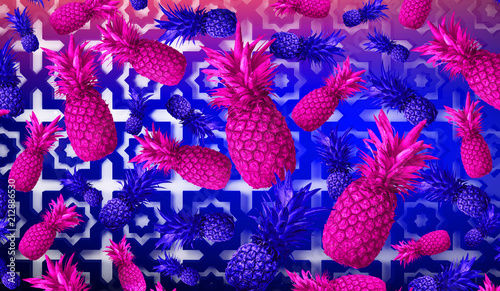 Abstract fruit background, pineapple - 212886530