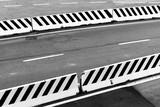 Striped white concrete border blocks - 212887353