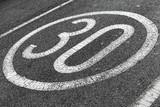 Round speed limit road marking - 212887359