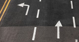 Driving directions by lanes. White arrows - 212887368
